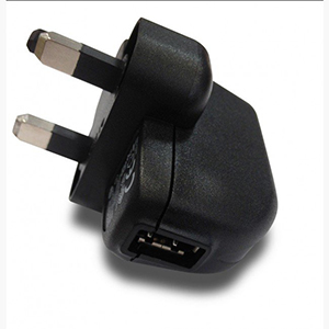 uk usb mains plug wall adapter